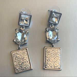Givenchy Dangle Crystal Hammered Earrings